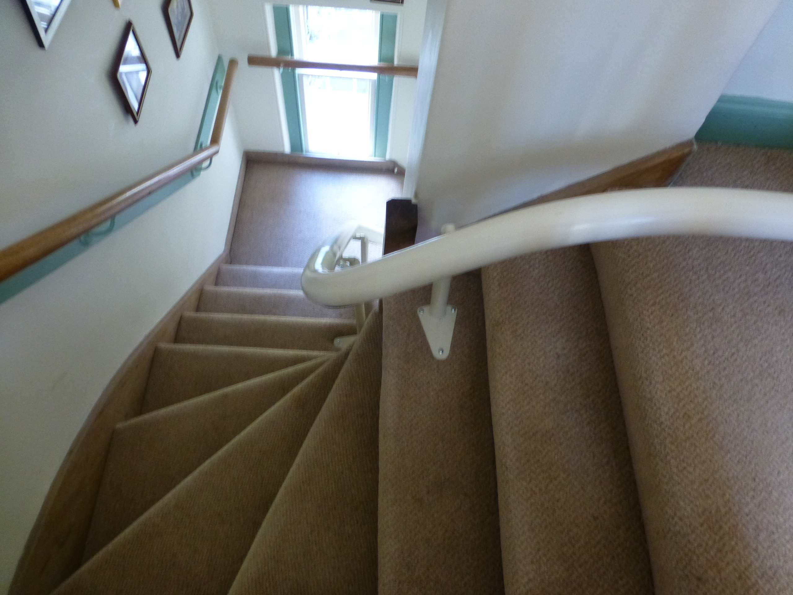 Stair Lift On The Steep Internal Staircase At The End Of The House