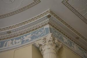 Beautiful ceiling decoration in the public areas